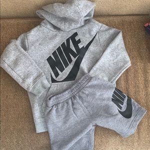Nike sweatshirt and shorts